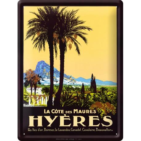 Plaque métal 30x40 - Hyères La Cote des Maures