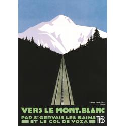 Affiche 50x70 - Vers le Mont-Blanc de Jour