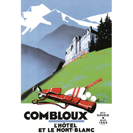 Affiche 50x70 - L'Hôtel PLM et le Mont Blanc