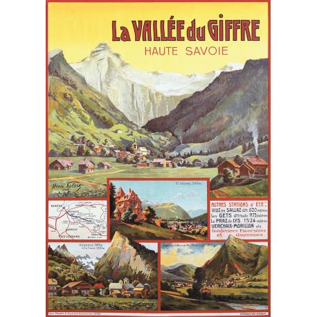 Affiche 50x70 - La Vallée du Giffre