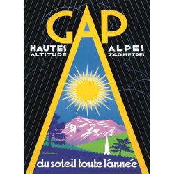 Affiche 50x70 - Soleil à Gap