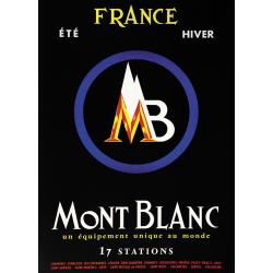 Affiche 50x70 - Logo du Mont-Blanc