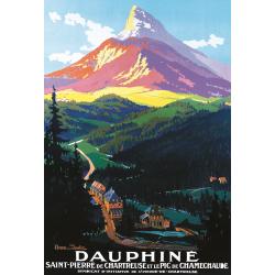Affiche 50x70 - Saint Pierre de Chartreuse