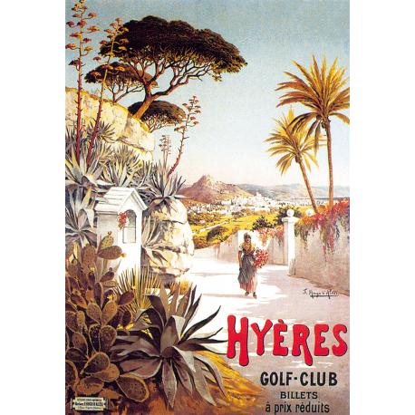 Affiche 50x70 - Promenade à Hyères