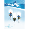 Affiche 50x70 - 3 skieurs contamines