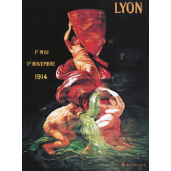Affiche 50x70 - Exposition internationale de Lyon
