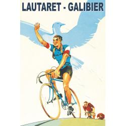 Affiche 50x70 - Galibier Lautaret Course Cycliste