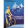 Affiche 50x70 - Galbier Lautaret Vélo Maillot Jaune