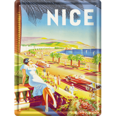 Plaque métal 30x40 - Nice La Promenade des Anglais