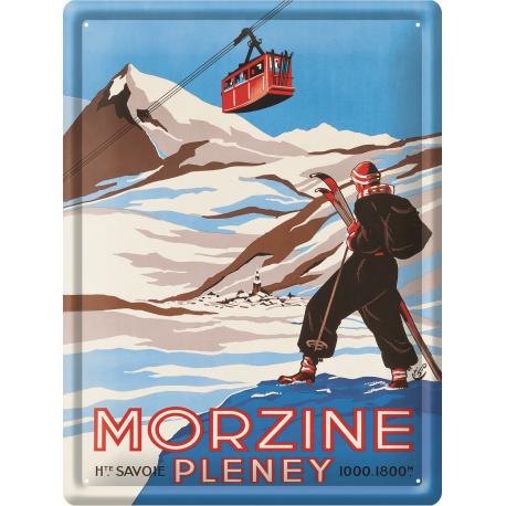 Plaque métal 30x40 - Morzine Pleney