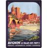 Plaque métal 30x40 - Avignon Le Palais des Papes