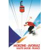 Affiche 50x70 - Téléphérique de Morzine Avoriaz