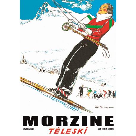Affiche 50x70 - Téléski Morzine