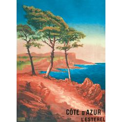 Affiche 50x70 - L'Esterel