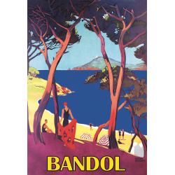 Affiche 50x70 - Bord de mer à Bandol