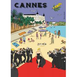 Affiche 50x70 - Cannes par Marina Vandel