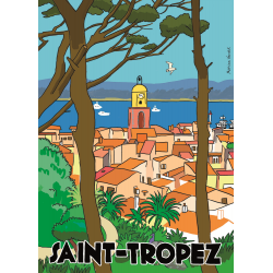 Affiche 50x70 - Saint Tropez par Marina Vandel