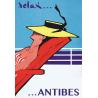 Affiche 50x70 - Relax à Antibes