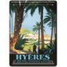 Plaque métal - Les palmiers - Hyères