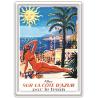 Plaque métal - Allez sur la Côte d'Azur