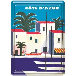 Plaque métal - Port de Côte d'Azur