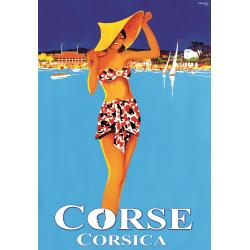Affiche 50x70 - Les pieds dans l'eau en Corse