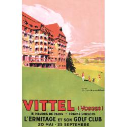 Affiche 50x70 - Golf de Vittel Ermitage
