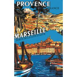 Affiche 50x70 - Marseille en Provence