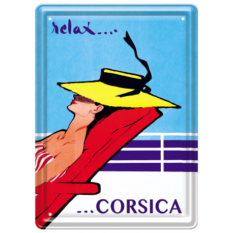Plaque métal 15x21 - Relax Corsica