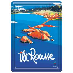 Plaque métal 15x21 - Île Rousse