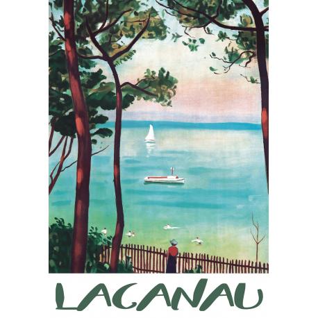 Affiche 50x70 - Lacanau en Peinture