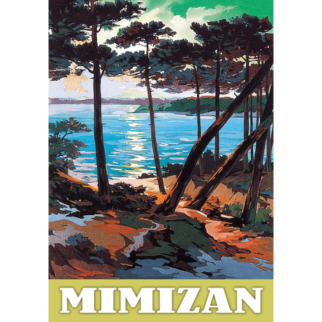 Affiche 50x70 - Mimizan Vue sur Mer