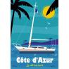 Affiche 50x70 - Bateau sur la Méditerranée