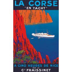 Affiche - Corse Croisière en yacht