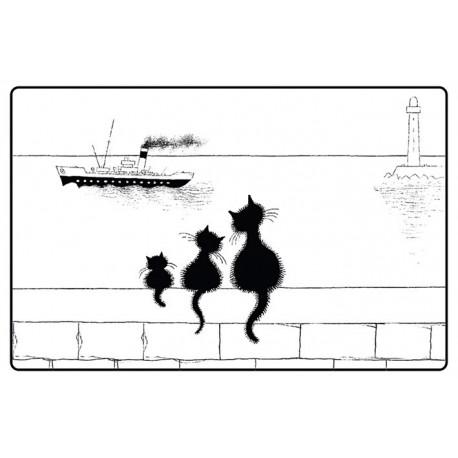 Set - Trois chats sur le mur - Chats Dubout