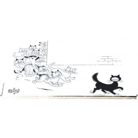 Planche à découper - Matous en chasse - Chats Dubout