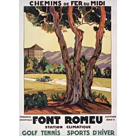Affiche - Station climatique de Font-Romeu (fin de série) - Midi