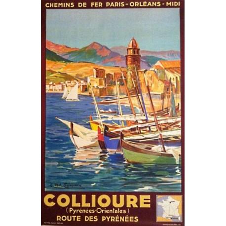 Affiche - Port de Collioure (fin de série) - Compagnie PO-Midi