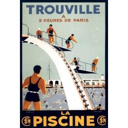 Affiche - La piscine de Trouville