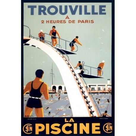 Affiche - La piscine de Trouville (fin de série) - SNCF