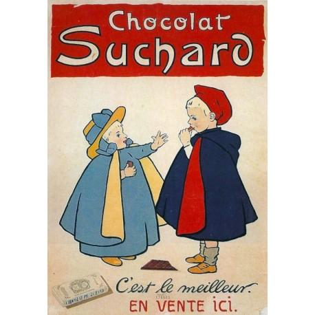 Affiche - Deux enfants (fin de série) - Chocolat Suchard