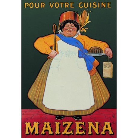 Affiche - Cuisinière (fin de série) - Maizena