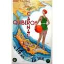 Affiche - Quibéron - Carte géographique