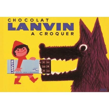 Affiche - Chaperon rouge (fin de série) - Chocolat Lanvin