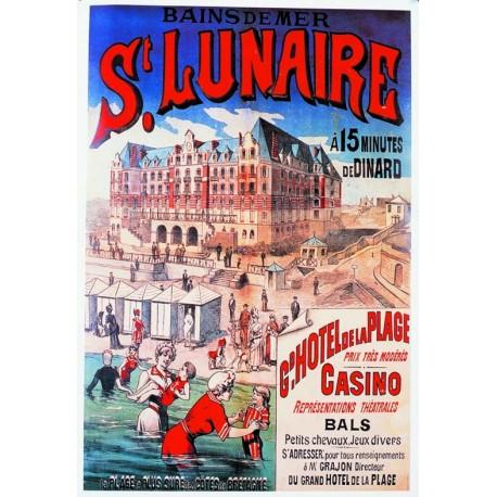 Affiche - Plage de Saint-Lunaire (fin de série) - Ville de Saint-Lunaire