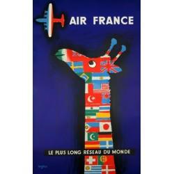 Affiche - Girafe (fin de série) - Air France