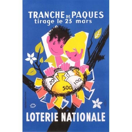 Affiche - Tranche de Pâques (fin de série) - Loterie Nationale