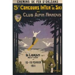 Affiche - Le Lioran - Concours de ski (fin de série) - Compagnie PO