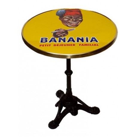Table de bistrot émaillée - Tête - Banania