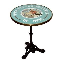 Table de bistrot émaillée - Huile d'olive tête nue - Union des propriétaires de Nice